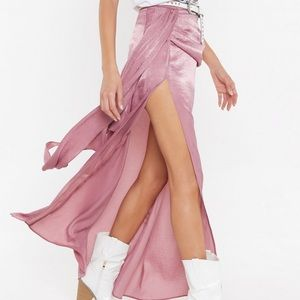NASTY GAL - wrap drape maxi skirt, 6